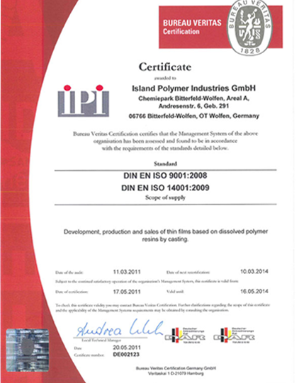 IPI is certified for ISO_9001:2008