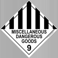 Miscellaneous Dangerous Goods 9