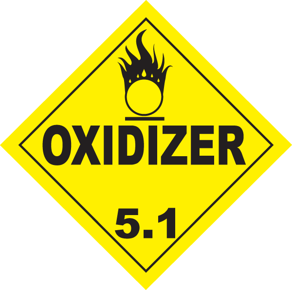 Oxidizer 5.1 Label