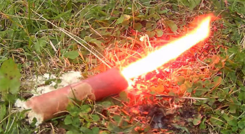 Red Phosphorus-powered flare